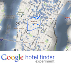 google hotel finder experiment