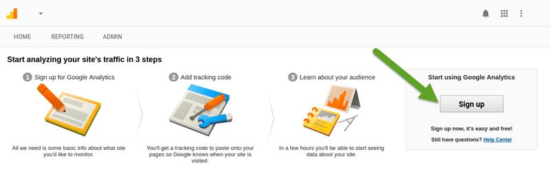 ایجاد اکانت در گوگل آنالیتیکز