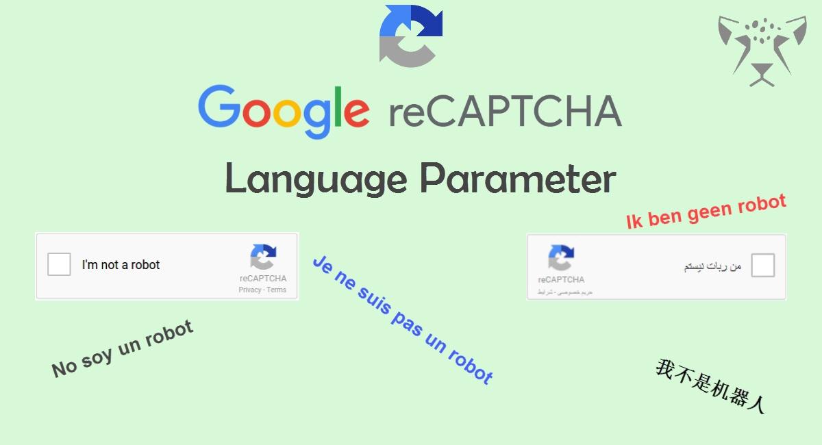تغییر زبان گوگل ریکپچا