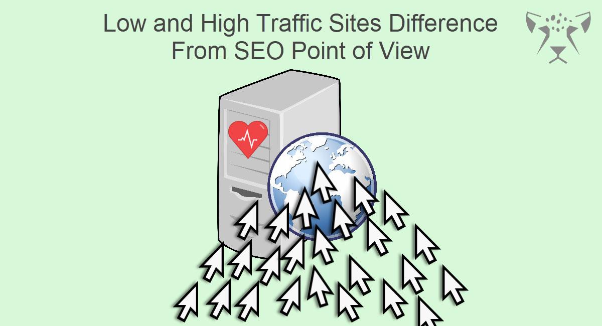 تفاوت سایت های پرترافیک و کم ترافیک از دید سئو