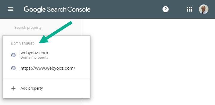 دامین وریفای نشده در گوگل سرچ کنسول