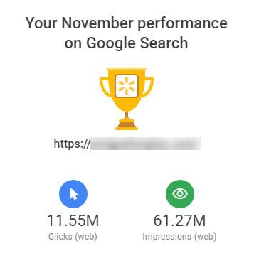 گزارش ماهیانه گوگل سرچ کنسول