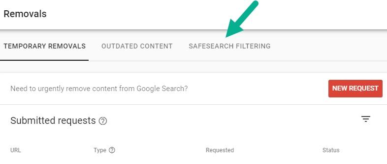 صفحات فیلتر شده توسط SafeSearch گوگل