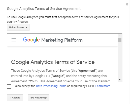 شرایط استفاده از سرویس گوگل آنالیتیکس